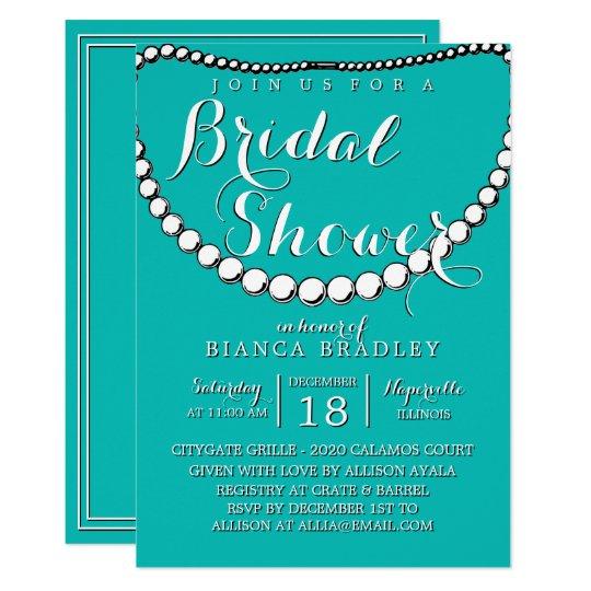 Tiffany Blue Teal Bridal Shower Invitation