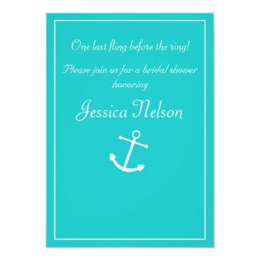 McTiffany Tiffany Aqua Tiffany Blue Turquoise Nautical Anchor Invitation