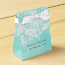tiffany blue wedding string lights glitz favor box