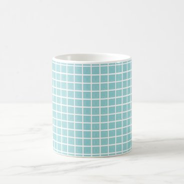 McTiffany Tiffany Aqua Tiffany Blue & White 11oz Classic White Mug