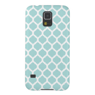 Tiffany Blue & White Moroccan Samsung Galaxy S5 Cases For Galaxy S5