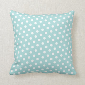 Tiffany Blue & White Polka Dot Throw Pillows
