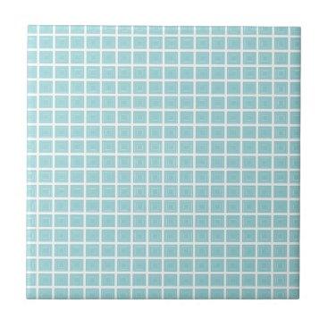 McTiffany Tiffany Aqua Tiffany Blue & White Small Ceramic Photo Tile