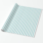 Tiffany Blue & White Striped Pattern Gift Wrapping Paper