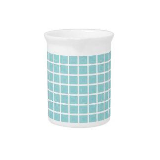 Tiffany Blue & White Tile Pattern 19oz Pitcher