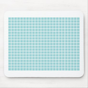 McTiffany Tiffany Aqua Tiffany Blue & White Tile Pattern Mouse Pad