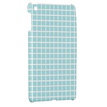 McTiffany Tiffany Aqua Tiffany Blue & White Tile Pattern (Trois Carrés) Cover For The iPad Mini