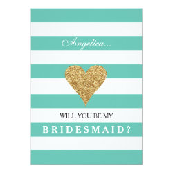 Tiffany Blue Will You Be My Bridesmaid Invitation