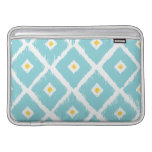 TIFFANY BLUE & YELLOW IKAT MACBOOK AIR SLEEVE