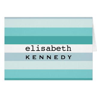 Tiffany Box Aqua Blue Stripes Card