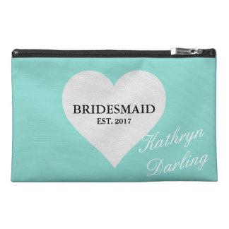 Tiffany Bridesmaid Heart Travel Accessory Bag