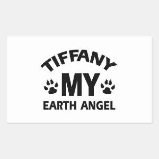 TIFFANY CAT DEsign Rectangular Sticker
