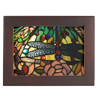 Tiffany Close Up Stained Glass Lamp Shade Keepsake Boxes