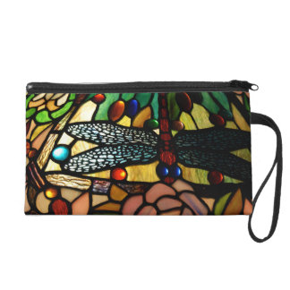 Tiffany Close Up Stained Glass Lamp Shade Wristlet