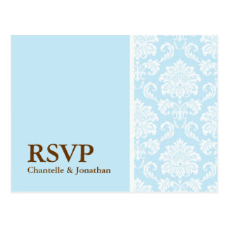 Tiffany Damask RSVP Postcard