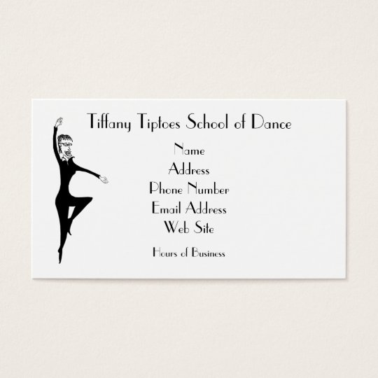 Tiffany Dance Like Nobody's Watching Art by BBB Business Card