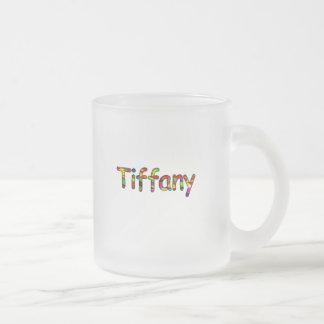 Tiffany Frosted Glass Coffee Mug