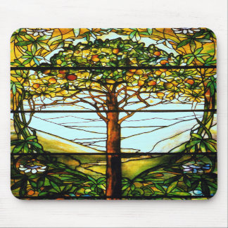 Tiffany Fruit Tree Stained Glass Vertical Mousepad