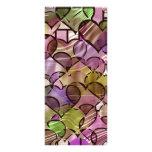 Tiffany heart pattern rack card design