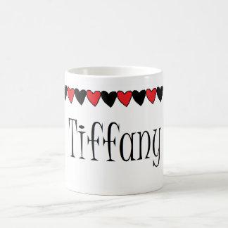 Tiffany Hearts Name Mug