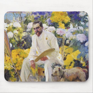 Tiffany in his Garden by Joaquin Sorolla Mouse Pad