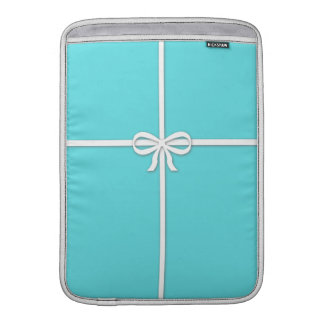 Tiffany-inspired, robins egg blue with ribbon sleeves for MacBook air