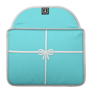 Tiffany-inspired, robins egg blue with ribbon sleeves for MacBooks
