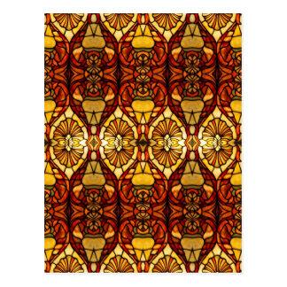 Tiffany Lamp Symmetry Postcard
