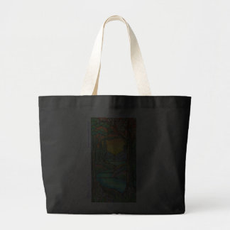 Tiffany Landscape Stained Glass Design ART! Canvas Bag