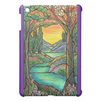 Tiffany Landscape Stained Glass Design ART! iPad Mini Cases