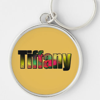 Tiffany Llavero Redondo Plateado