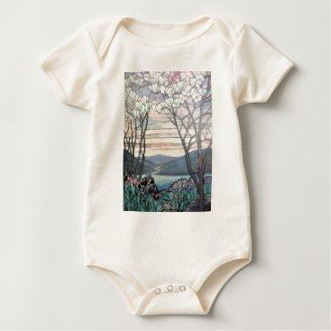 McTiffany Tiffany Aqua TIFFANY MAGNOLIAS BABY BODYSUIT