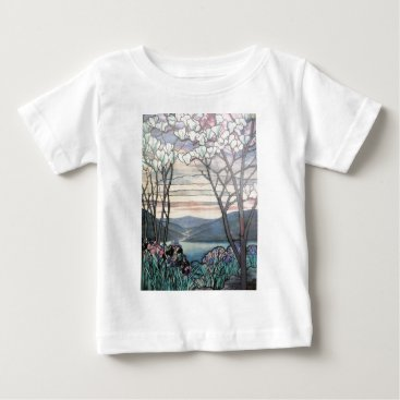 McTiffany Tiffany Aqua TIFFANY MAGNOLIAS BABY T-Shirt