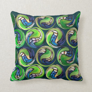 Tiffany Marbles Throw Pillow