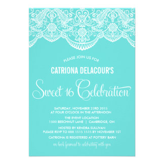 Tiffany Moroccan Lace Sweet Sixteen Invitation