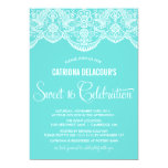 "Tiffany Moroccan Lace Sweet Sixteen Invitation 5"" X 7"" Invitation Card"