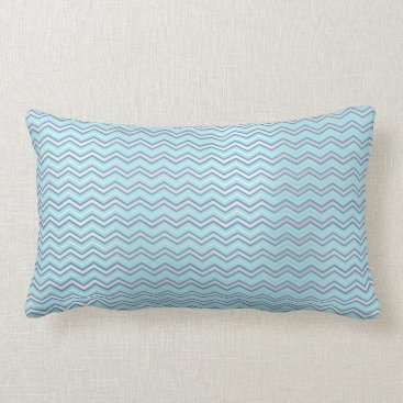 McTiffany Tiffany Aqua Tiffany Navy Blue Aqua Beach Ocean Chevron Lumbar Pillow