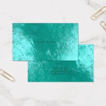 Beach Themed Tiffany Ocean Aqua  Metallic Appointment Card Vip