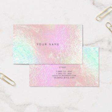 Beach Themed Tiffany Ocean Aqua Pink Metallic Appointment Card