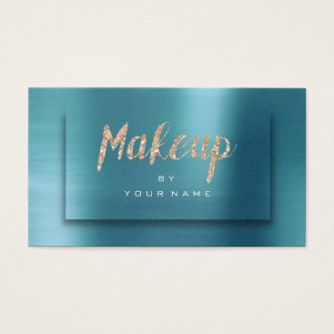 McTiffany Tiffany Aqua Tiffany Ocean Gold Typograph Makeup Artist 3D Business Card