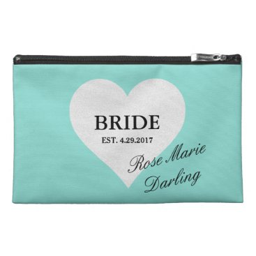 McTiffany Tiffany Aqua Tiffany Party Bride Heart Travel Accessory Bag