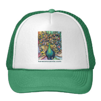Tiffany Peacock Stained Glass style ART HAT