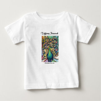 Tiffany Peacock Stained Glass style child t-shirt