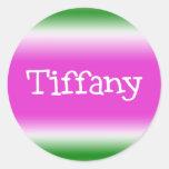 Tiffany Pegatina Redonda