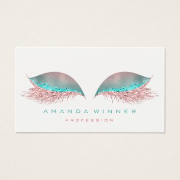 McTiffany Tiffany Aqua Tiffany Pink Ombre Lashes Extention Makeup Glitter Business Card