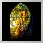 Tiffany que dirige el vidrio de la mancha del ánge impresiones