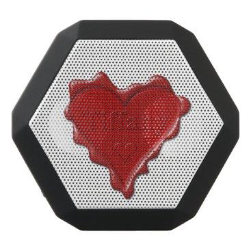McTiffany Tiffany Aqua Tiffany. Red heart wax seal with name Tiffany Black Bluetooth Speaker