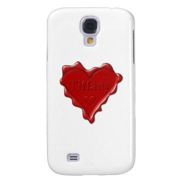 McTiffany Tiffany Aqua Tiffany. Red heart wax seal with name Tiffany Galaxy S4 Case