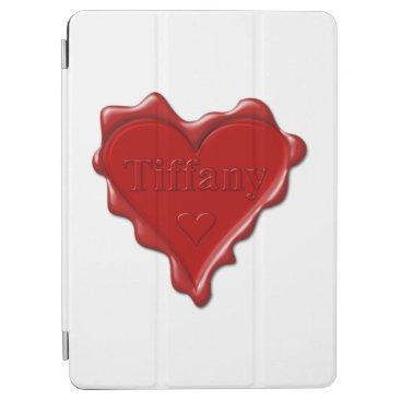 McTiffany Tiffany Aqua Tiffany. Red heart wax seal with name Tiffany iPad Air Cover
