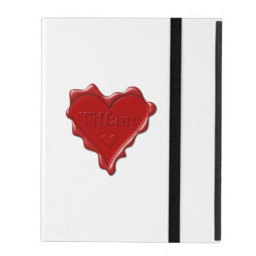 McTiffany Tiffany Aqua Tiffany. Red heart wax seal with name Tiffany iPad Cover